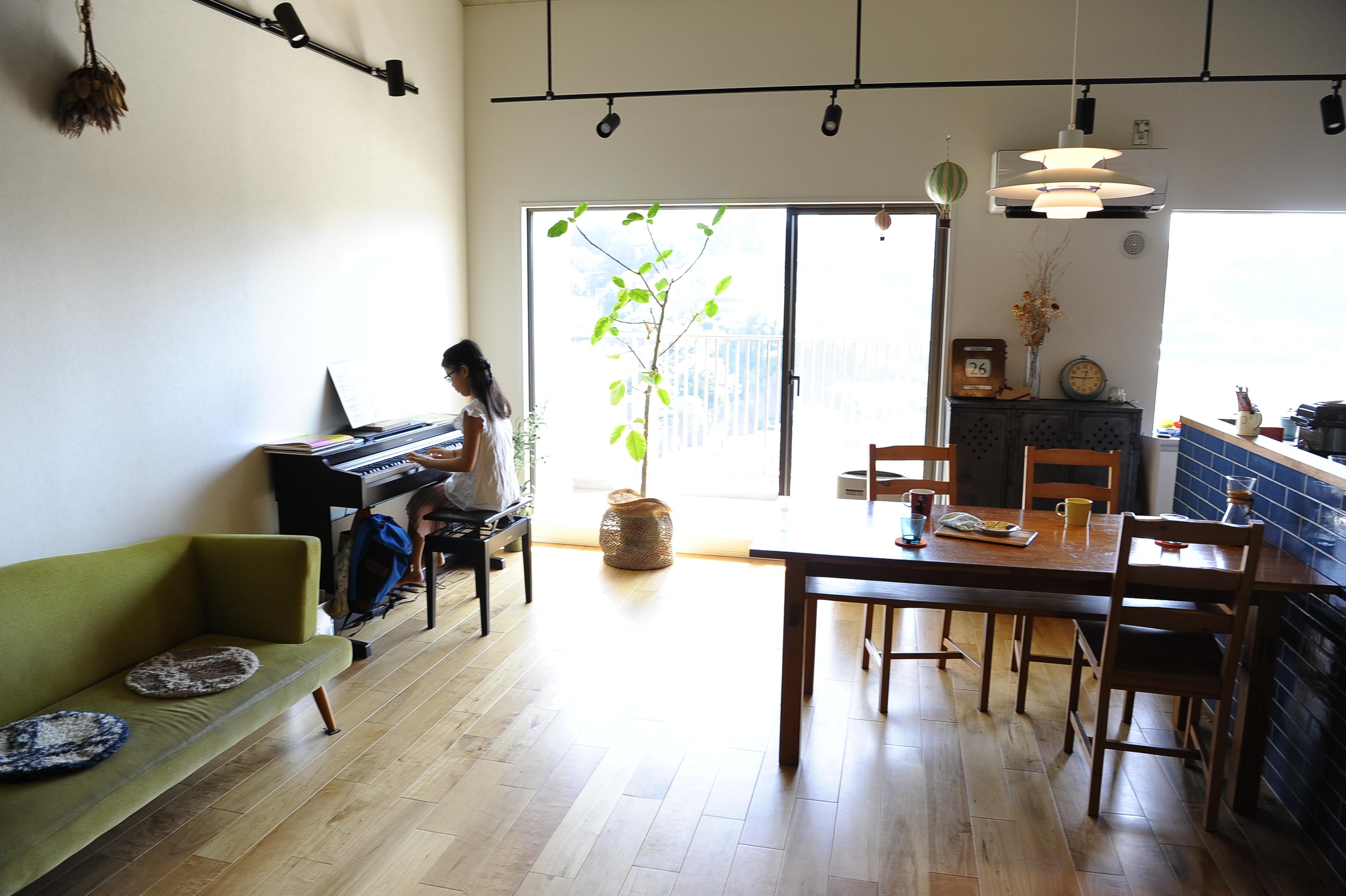 お家でピアノの練習