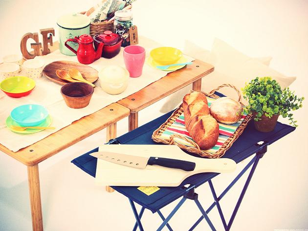 サイドテーブル,補助,パーティー,来客,折りたたみ