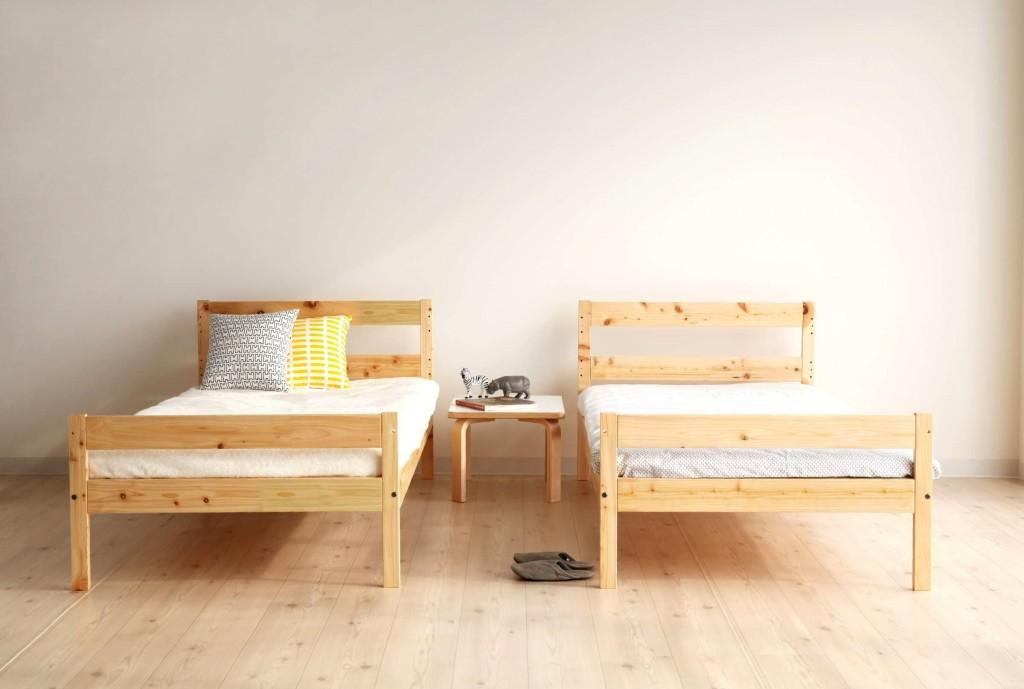 二段ベッド,シングルベッド,すのこベッド,シンプル