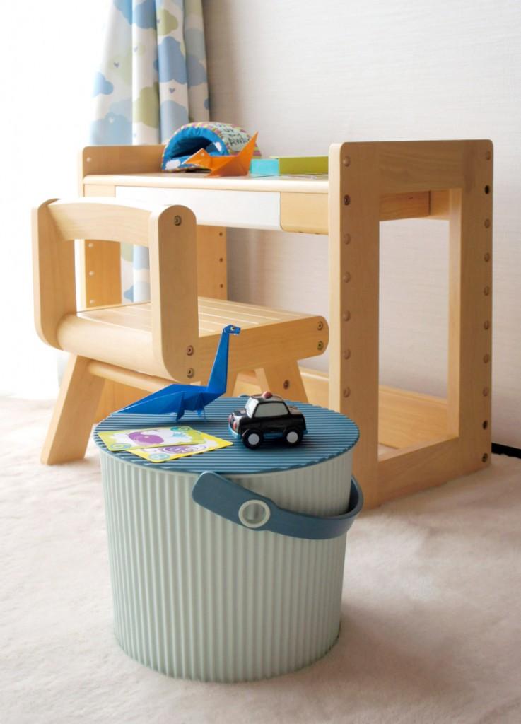子供部屋,収納,バケツ,かわいい