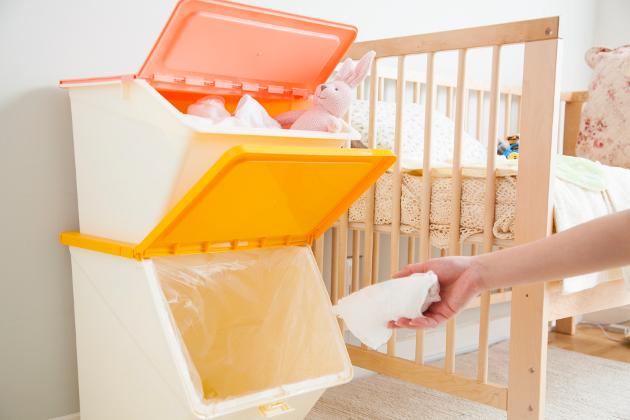 子供部屋 収納 おむつペール ダストボックス