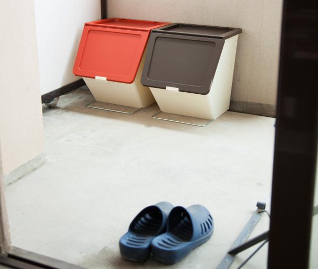 ベランダ 収納 ゴミ箱 ダストボックス