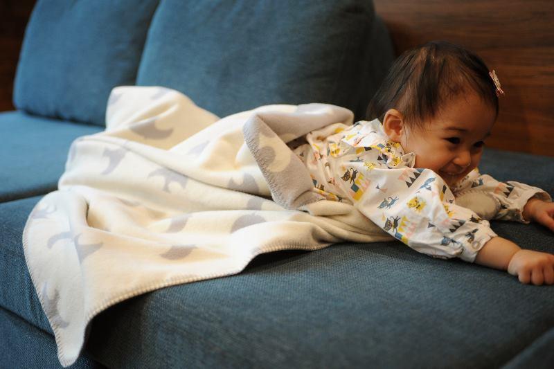 こどもと暮らしオリジナルの綿毛布ハーフケット