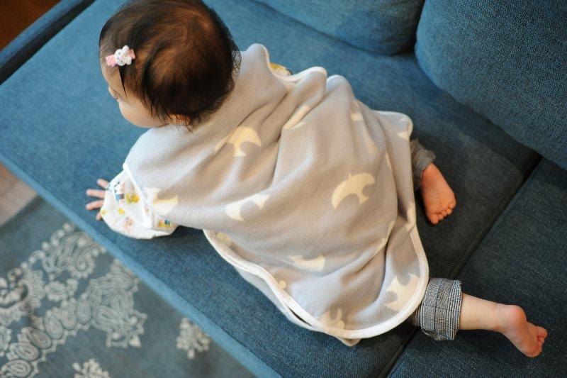 こどもと暮らしオリジナルの綿毛布スリーパー