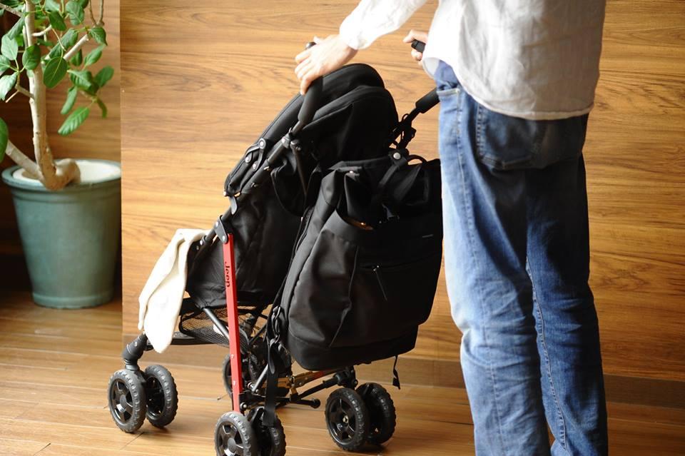 ベビーカーにも取付可能なパパバッグ