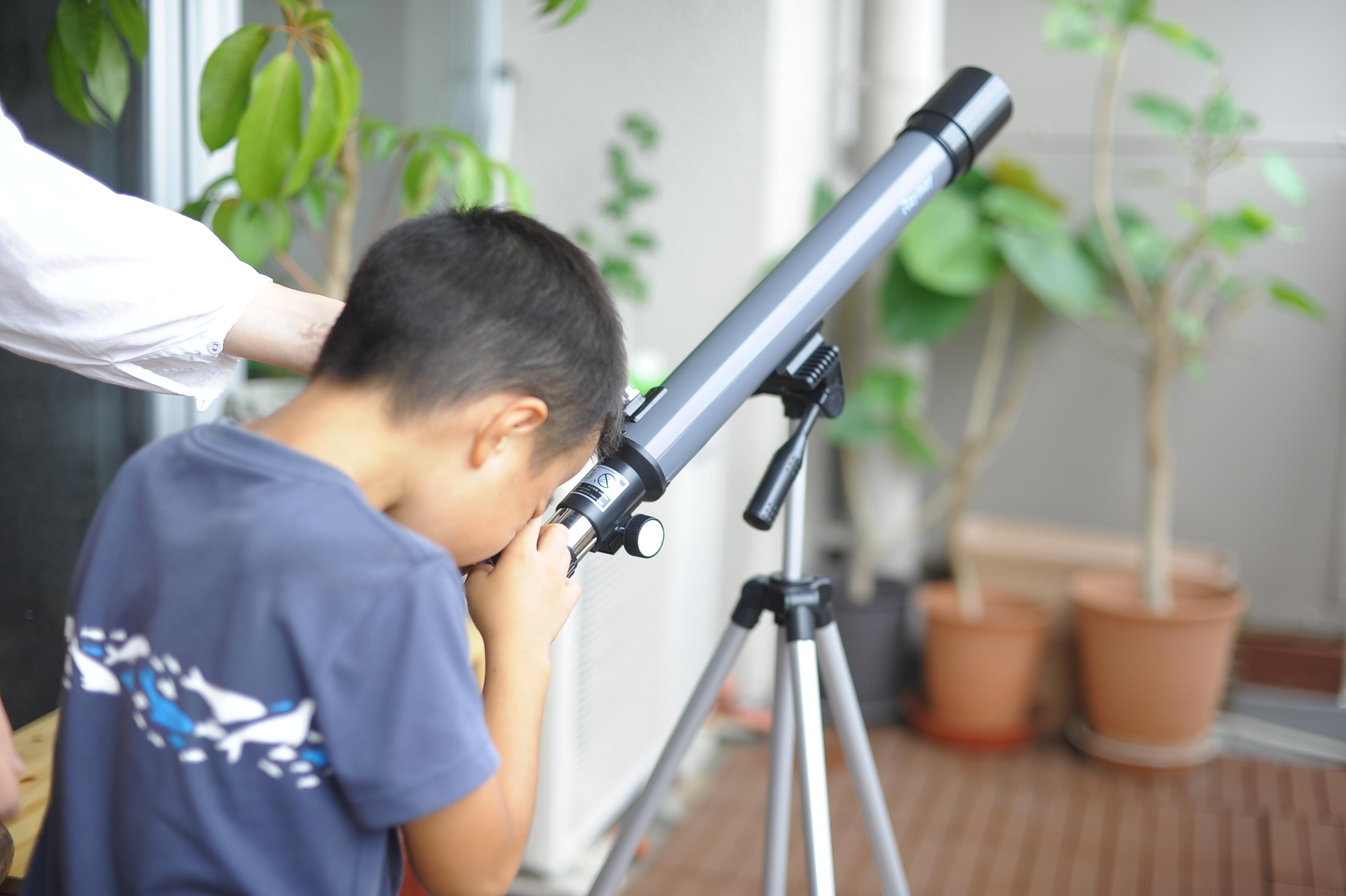 夏休みの自由研究に天体観測