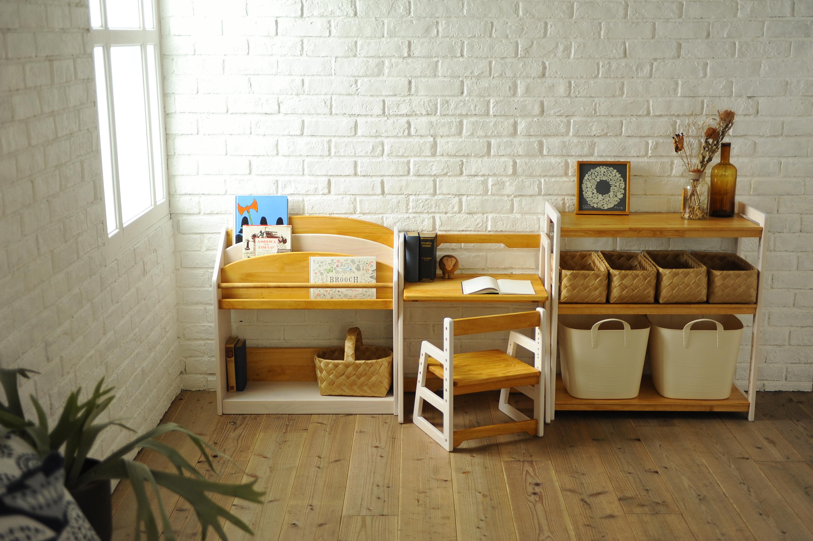 天然木のキッズ家具milkがリニューアルしました
