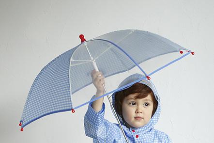 傘の視認性をあげる安全な透明窓