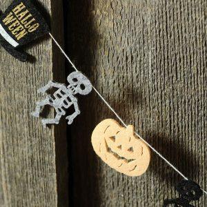 ハロウィンガーランド かぼちゃ・ガイコツ・ハット