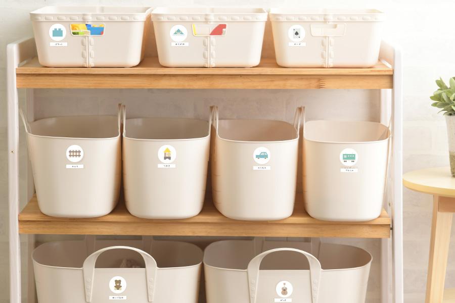 Milkお片付けラックなどの収納アイテムにも使えるお片付けシール