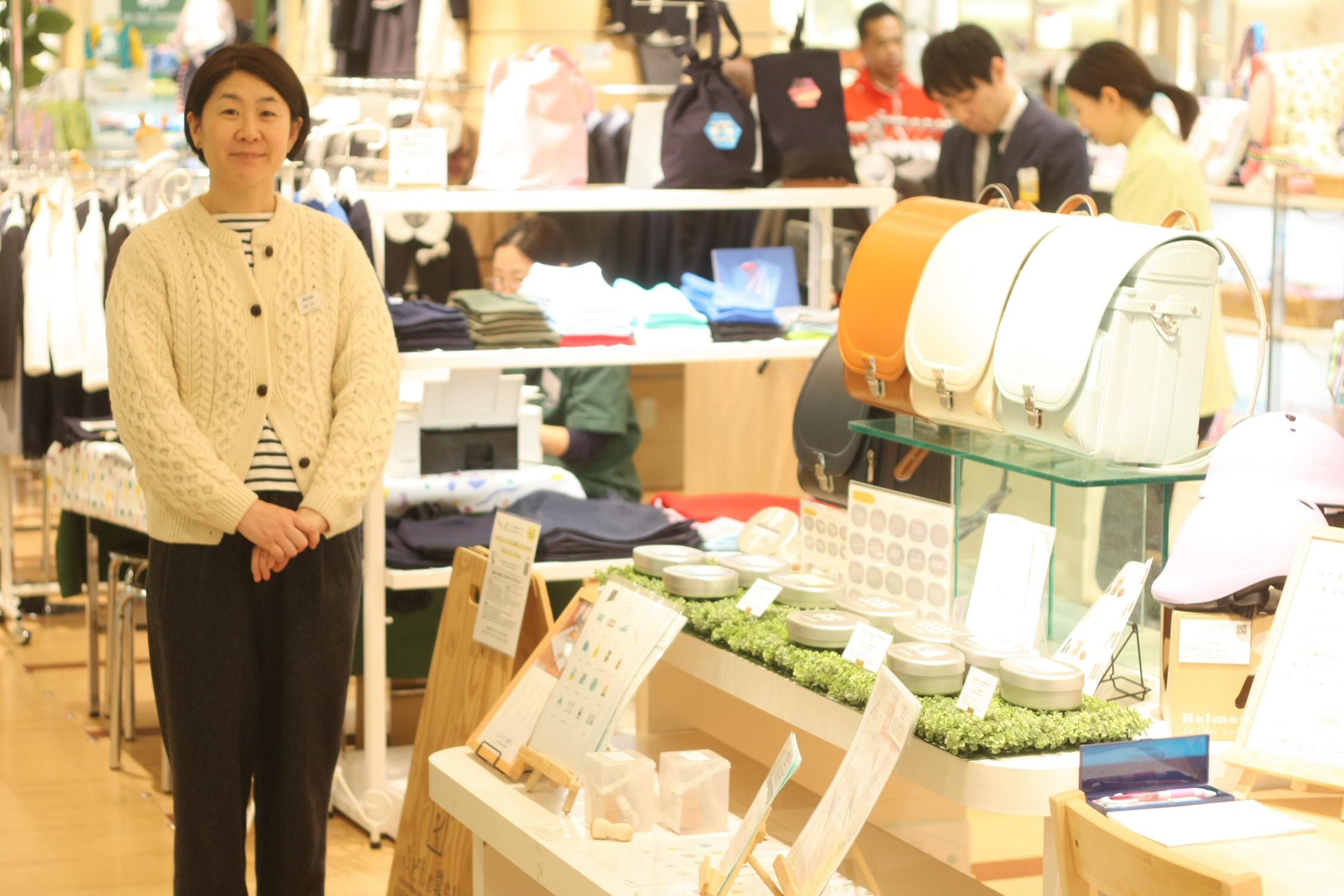 伊勢丹浦和店できなこさんとこどもと暮らしが一緒につくったランドセル「ずっと」のお披露目会を開催中