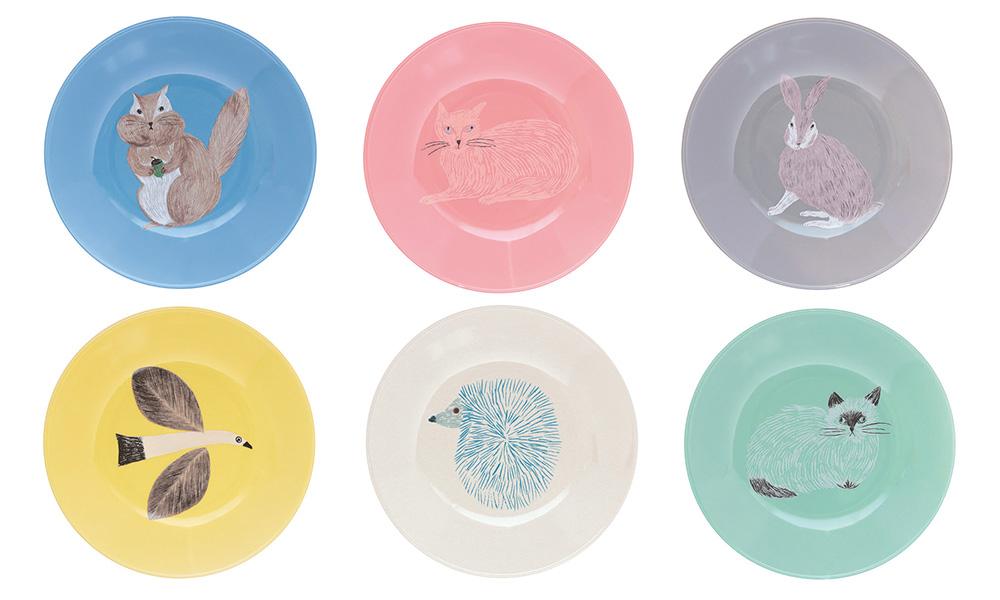 イラストレーター松尾ミユキさんのお皿