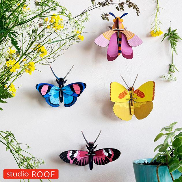 studio ROOF スタジオルーフ 壁掛けペーパークラフト 昆虫