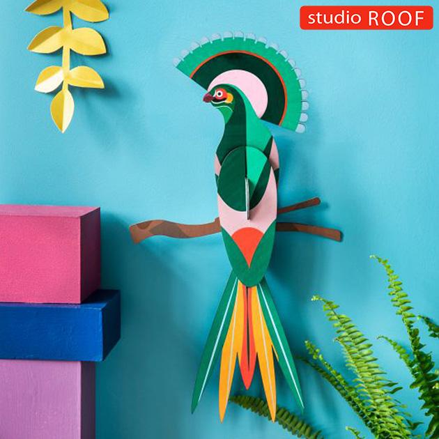 studio ROOF スタジオルーフ 壁掛けペーパークラフト 鳥