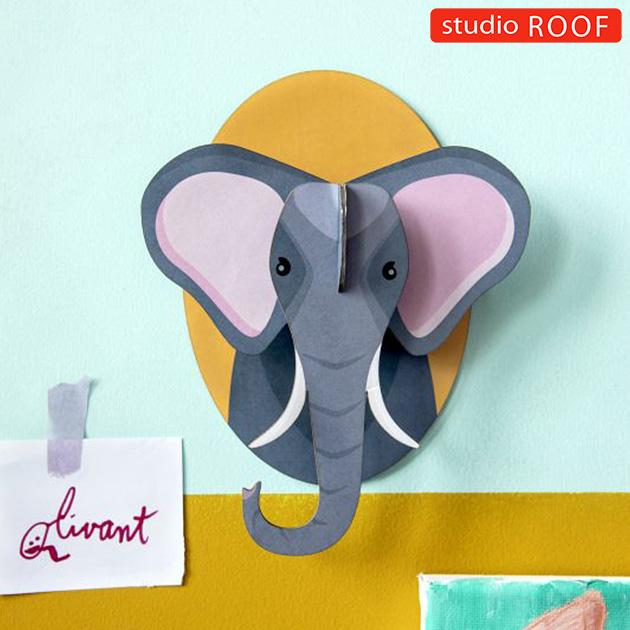 studio ROOF スタジオルーフ 壁掛けペーパークラフト 動物