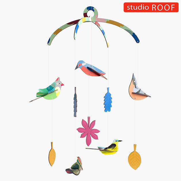 studio ROOF スタジオルーフ ペーパークラフトモビール 鳥