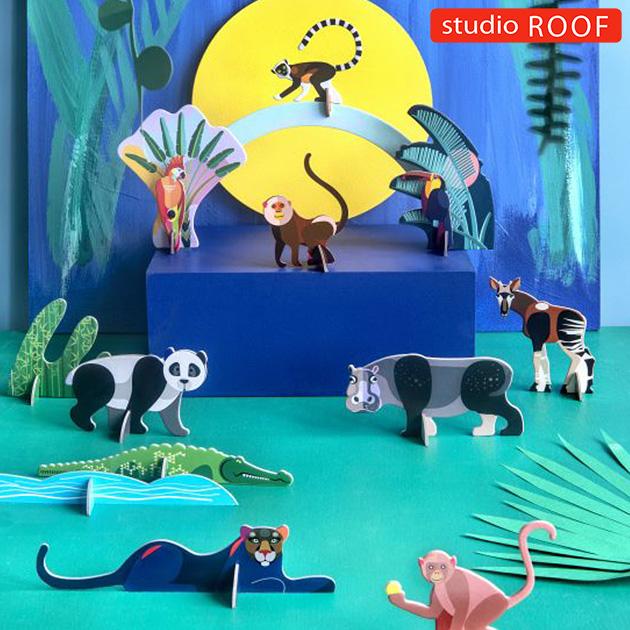studio ROOF スタジオルーフ ペーパークラフト アニマルズ