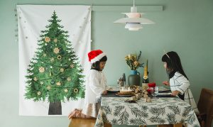 nunocotoさんから届いたクリスマスタペストリー