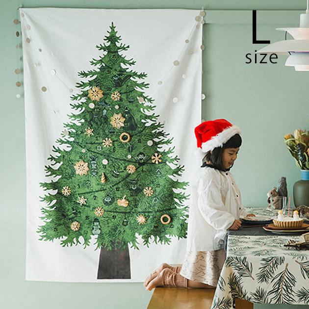 nunocotoクリスマスツリータペストリー(大) さこももみ
