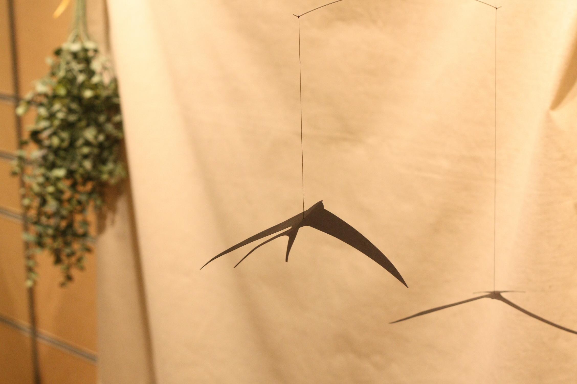 伊勢丹浦和店での展示販売中のずっとランドセルのフォトブースのイメージ つばめ